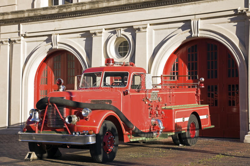 Retro fire car. Seen in Memphis stock images