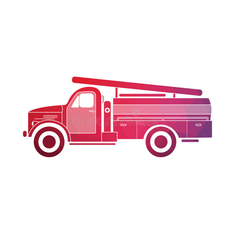 Retro fire truck vector illustration