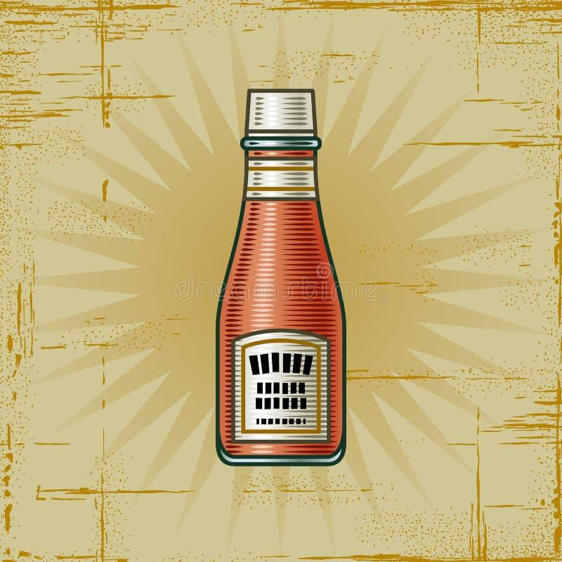 retro flaskketchup stock illustrationer