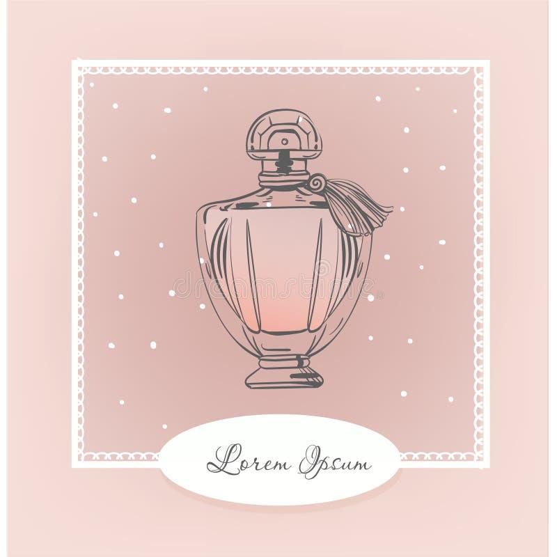 Retro fles parfum vector illustratie