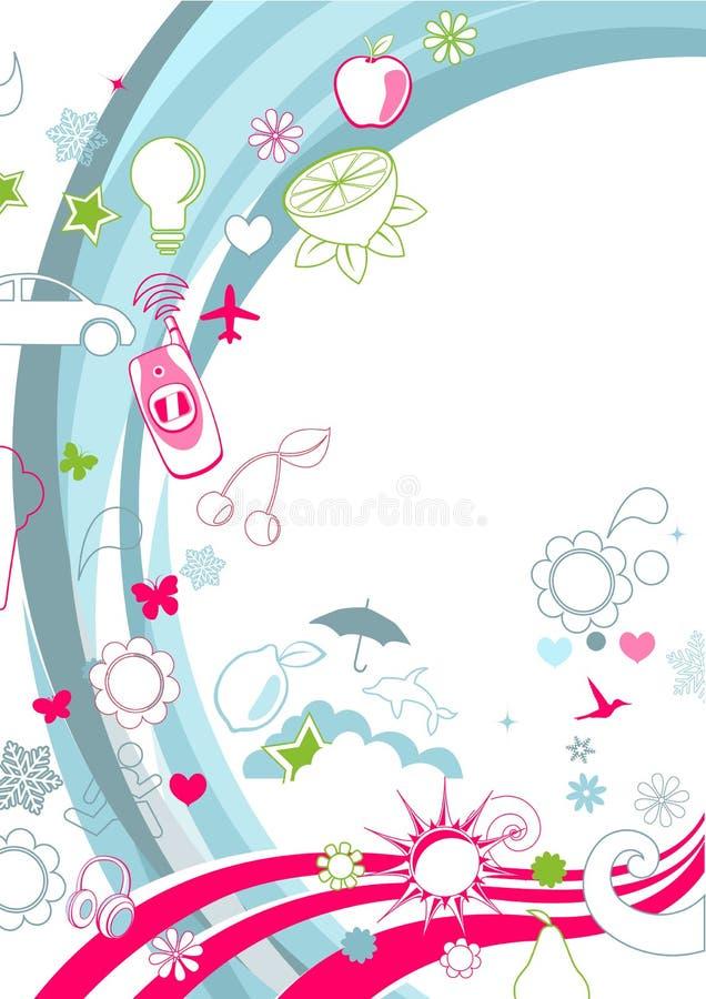 Retro- flippiger Hintergrund stock abbildung