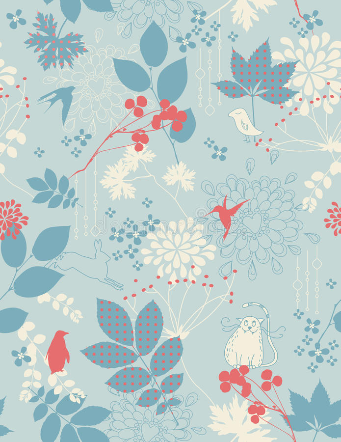 Free Retro Floral Background Stock Image - 10115541
