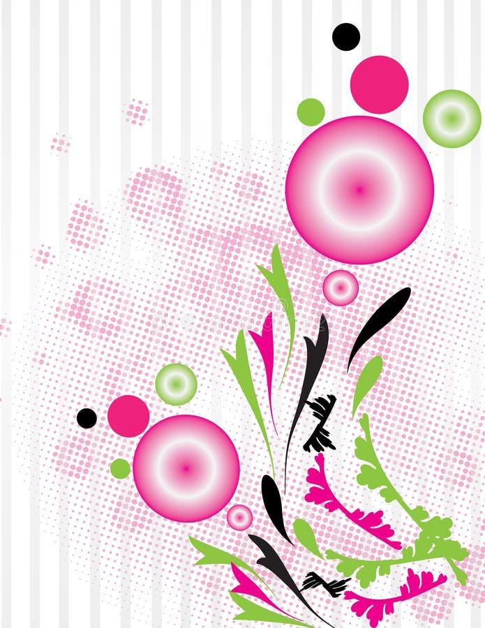 Retro floral background stock illustration