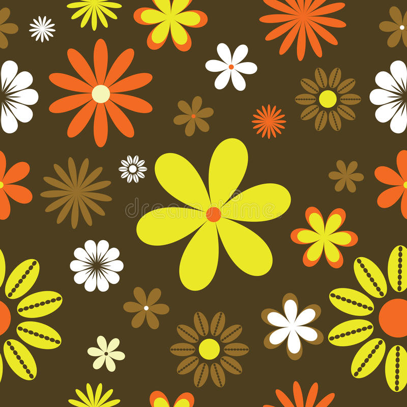 Free Retro Floral Background Stock Image - 9386411