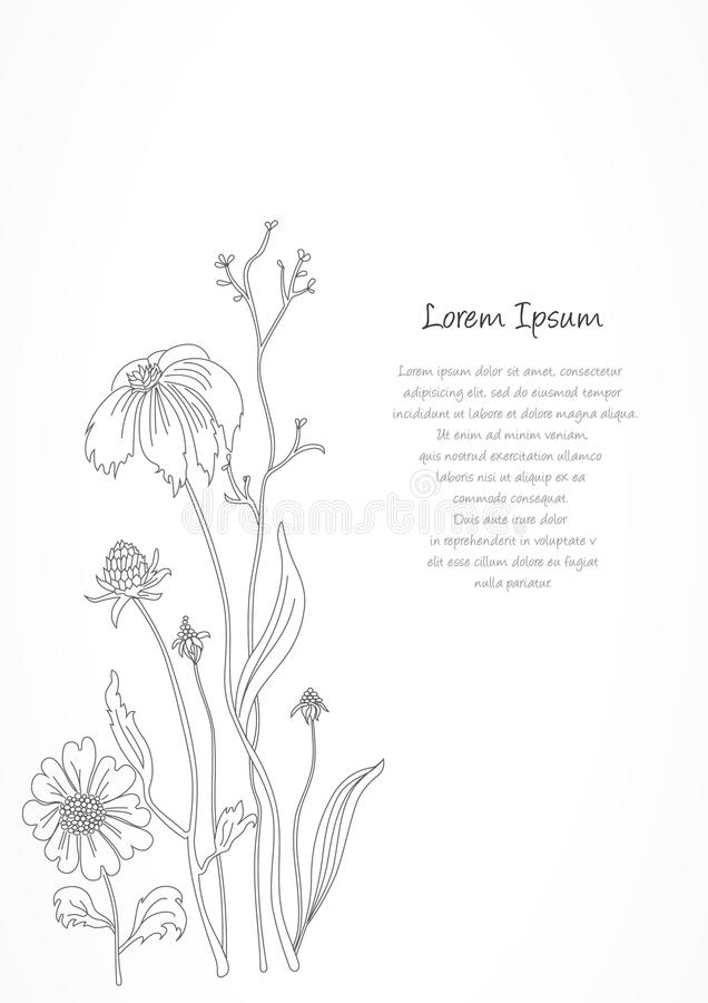 Free Retro Floral Background Card. Stock Photo - 35592390