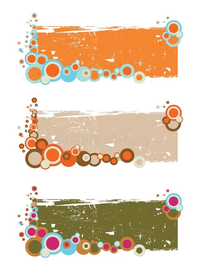 Download Retro floral banners stock vector. Image of pink, beige - 5769253