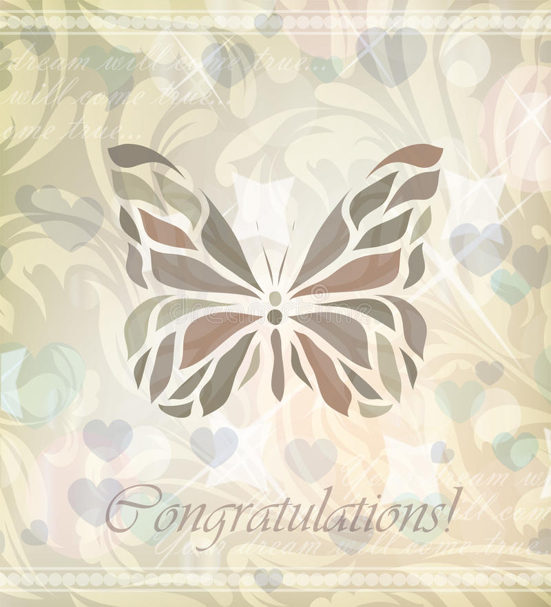 Download Retro Floral Butterfly Vector Stock Vector - Image: 23729083