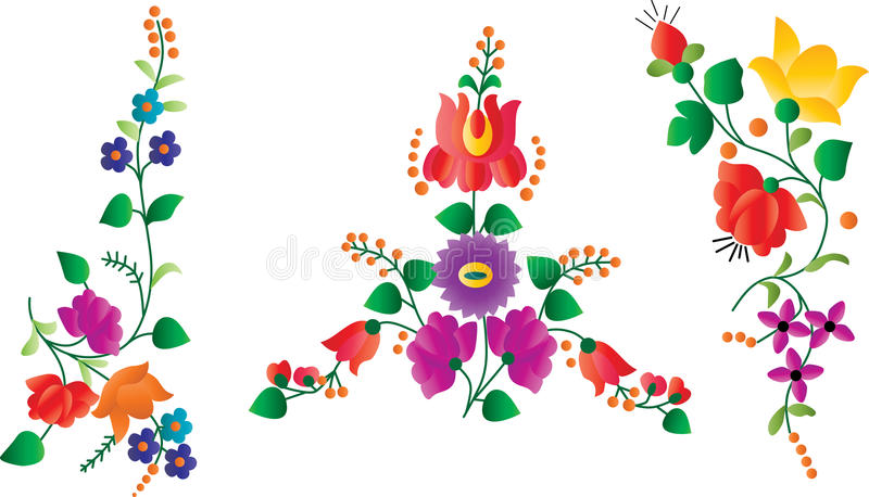 Download Retro Floral Decor Elements Stock Vector - Image: 24534156