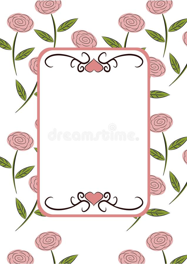 Retro Floral Frame Royalty Free Stock Photography