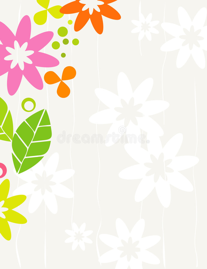 Download Retro Floral Frame stock vector. Illustration of daisy - 5764225