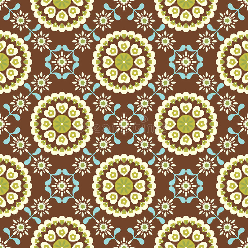 Download Retro Floral Pattern SEAMLESS Stock Vector - Illustration: 11306424