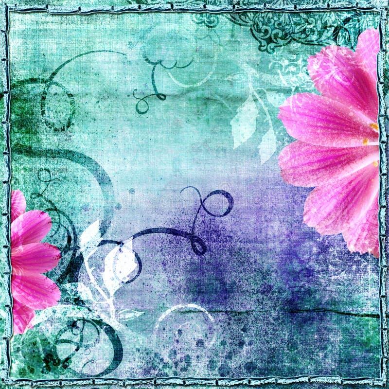 Retro floreale illustrazione di stock