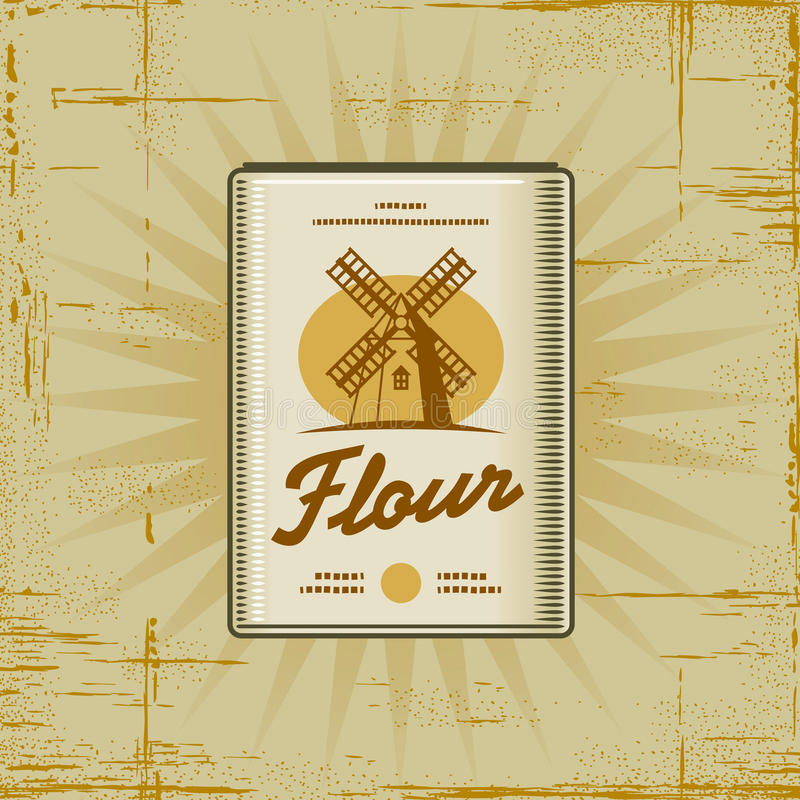 Retro Flour Pack royalty free illustration