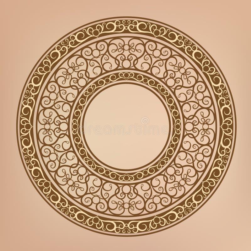 Retro flower pattern vector illustration
