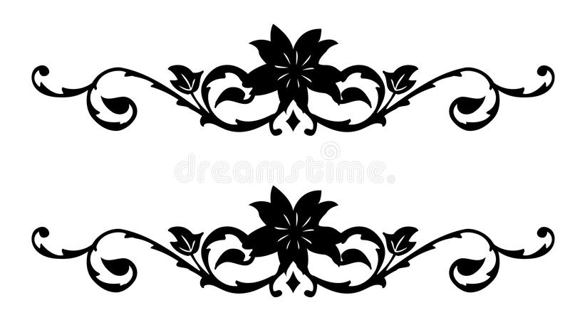 Download Retro Flower Silhouette Pattern Stock Illustration - Image: 13181062