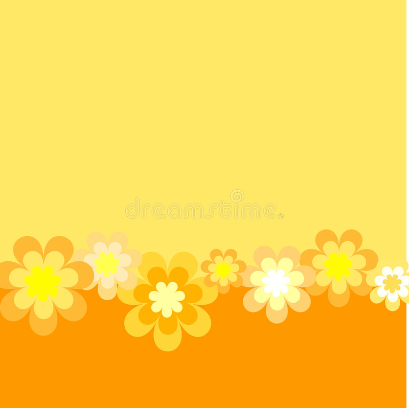 Download Retro flowers stock vector. Illustration of delicate, hand - 225609