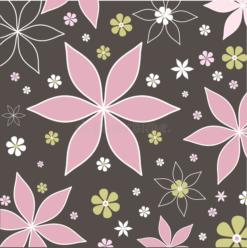 Retro flowers stock photography