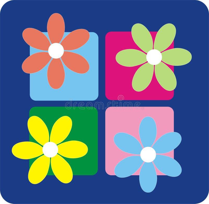 Retro Flowers royalty free illustration
