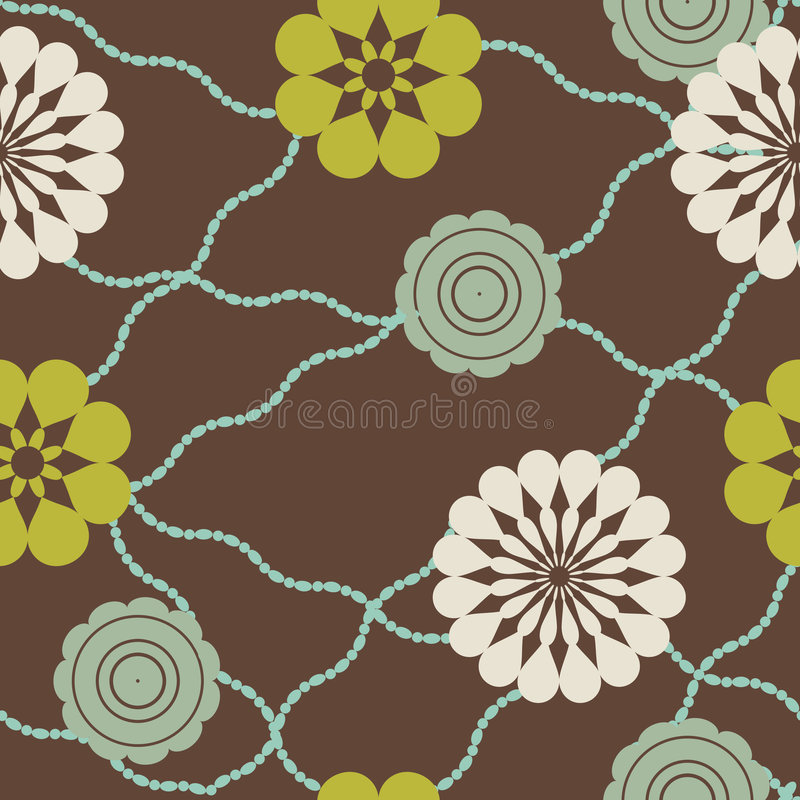 Download Retro flowers and beads stock vector. Illustration of green - 8228300