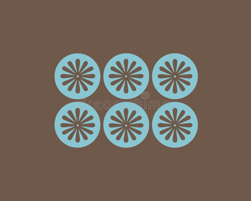 Download Retro Flowers And Circles Background Stock Illustration - Image: 3668722