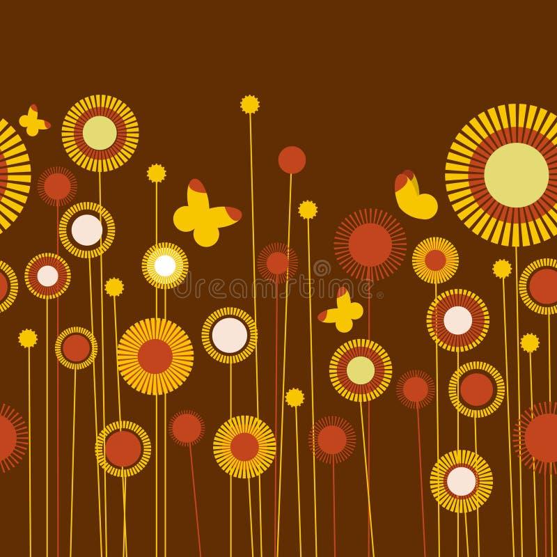 Retro flowers vector stock illustration
