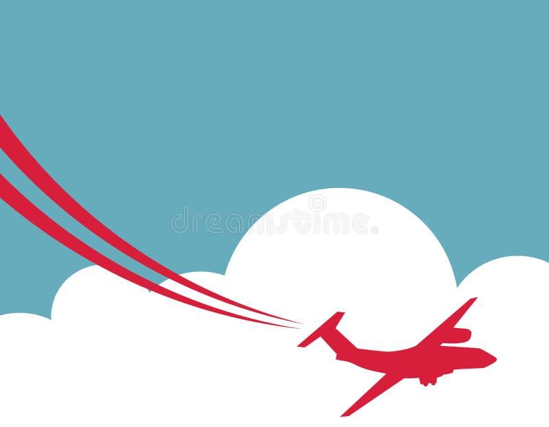 Retro flygplanbaner också vektor för coreldrawillustration royaltyfri illustrationer