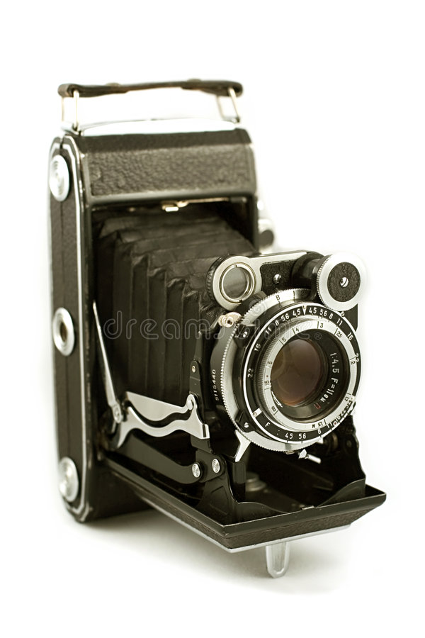 Retro folding camera royalty free stock photography