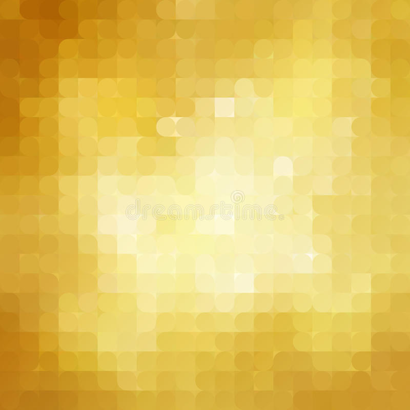 Retro fondo astratto del mosaico dell'oro royalty illustrazione gratis