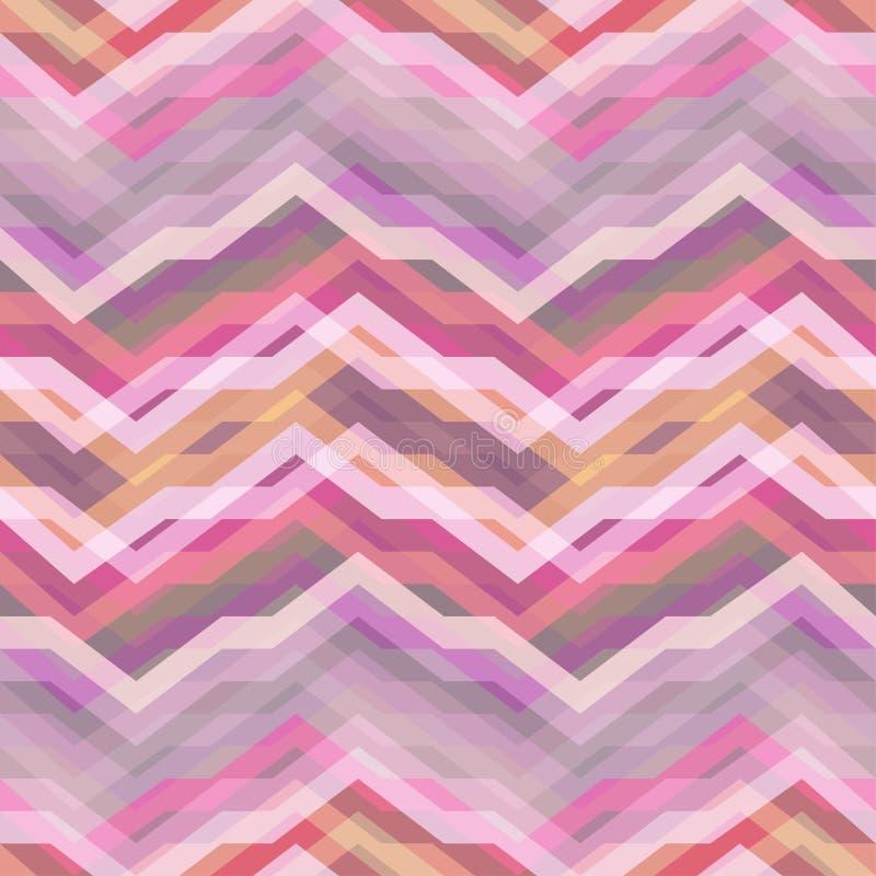 Retro fondo astratto rosa senza cuciture di vettore illustrazione di stock