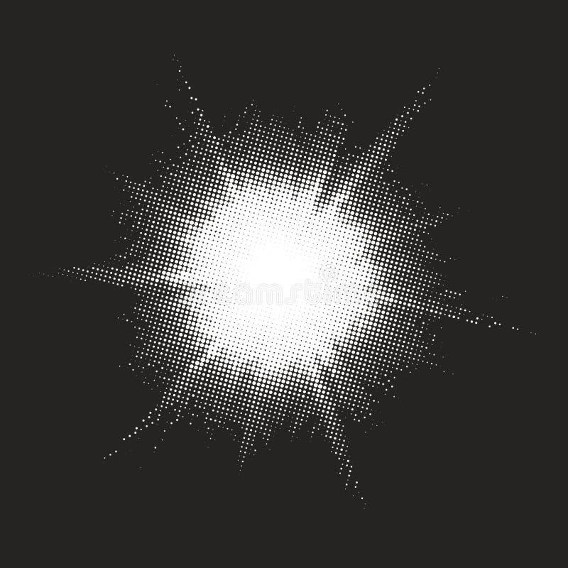 Retro fondo del dotwork di stile ENV 10 illustrazione di stock