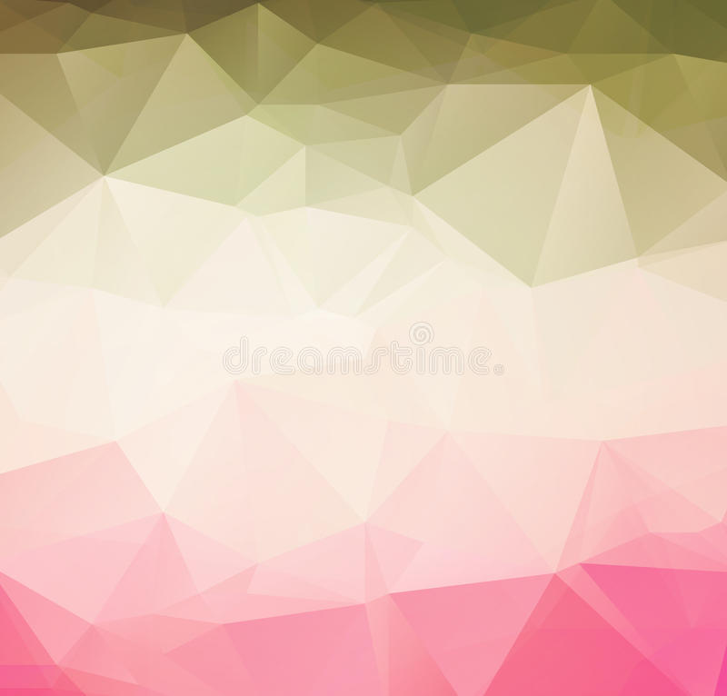 Retro fondo del modello geometrico astratto illustrazione di stock