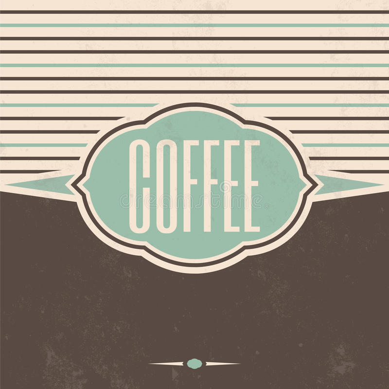 Retro fondo dell'annata del caffè illustrazione vettoriale
