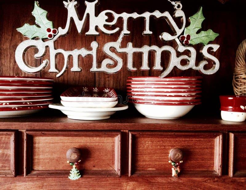 Retro fondo dell'apprettatrice della credenza di Buon Natale immagini stock