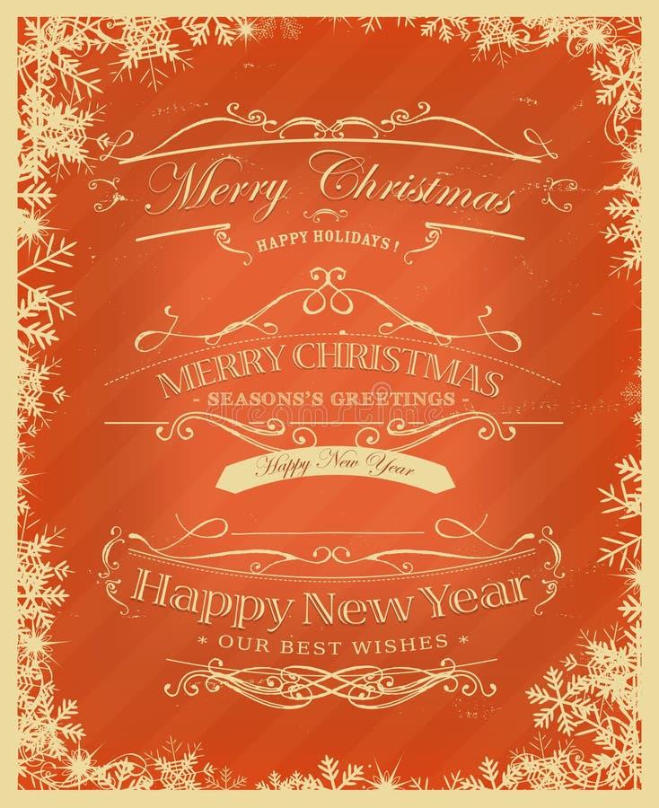 Retro fondo di Buon Natale royalty illustrazione gratis