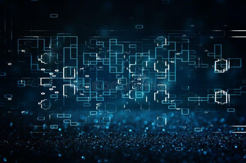 Retro fondo futuristico di retro stile di 80 ` s Digital o superficie cyber luci al neon e modello geometrico royalty illustrazione gratis