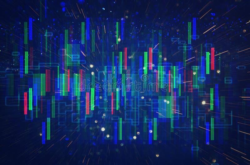 Retro fondo futuristico di retro stile di 80 ` s Digital o superficie cyber luci al neon e modello geometrico illustrazione di stock