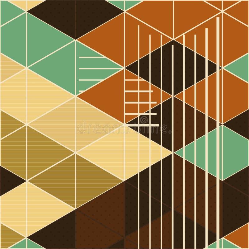 Retro fondo geometrico astratto editabile royalty illustrazione gratis
