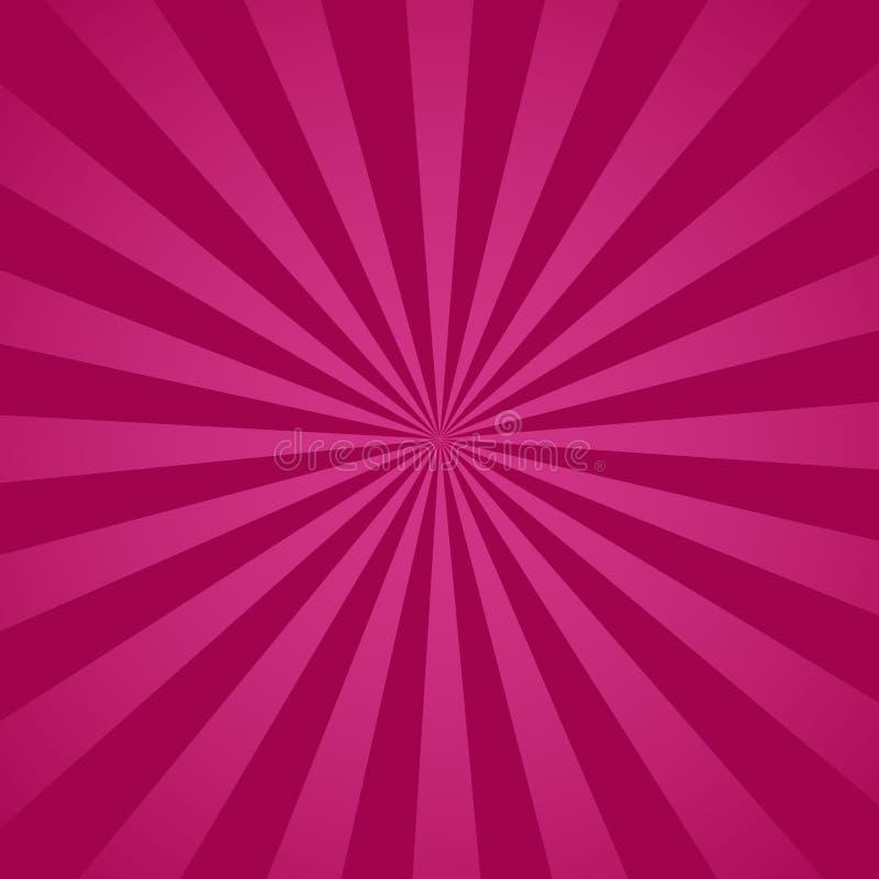Retro fondo radiale porpora Porpora e spirale astratta rosa, vettore eps10 dello starburst illustrazione vettoriale