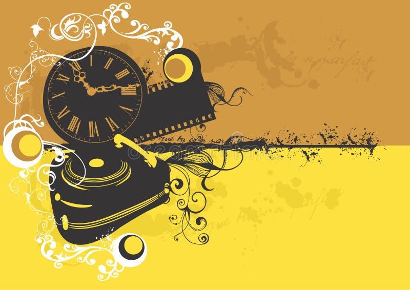 retro ' fonograf ' royalty ilustracja