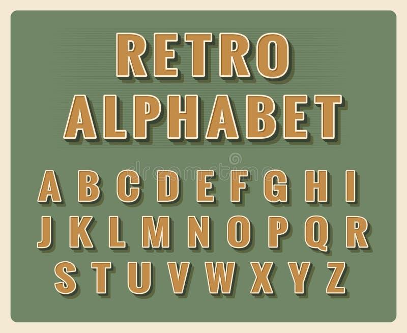 Retro Font Alphabet Stock Vector Illustration Of Letter