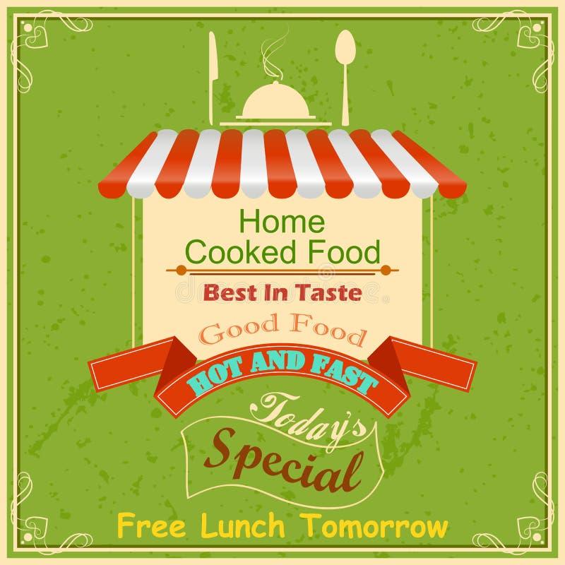 Retro Food Poster. Vector illustration of retro food poster royalty free illustration