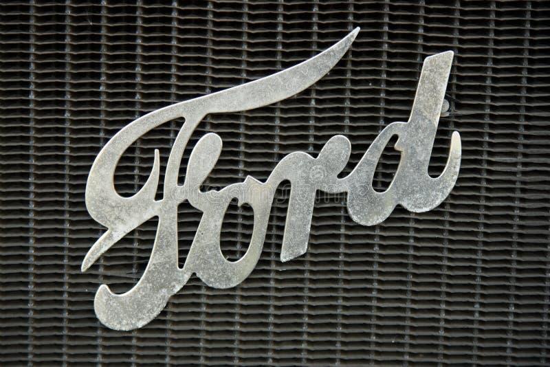 Retro Ford car sign stock photos