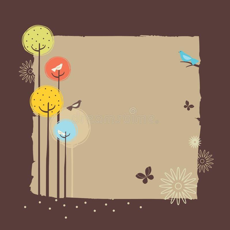 Retro Forest Design stock illustration