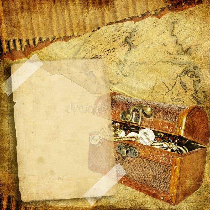 Retro fotoalbum stock illustratie