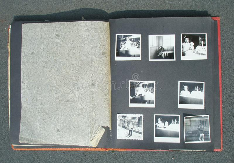 Retro fotoalbum stock afbeelding