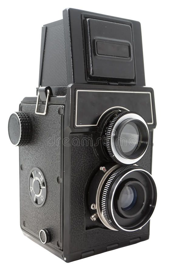 Retro fotocamera royalty-vrije stock fotografie