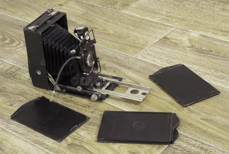Retro fotocamera royalty-vrije stock foto's