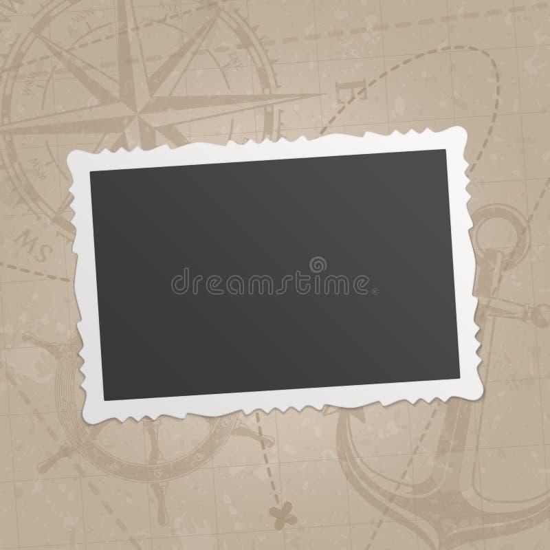 Retro fotoframe royalty-vrije illustratie