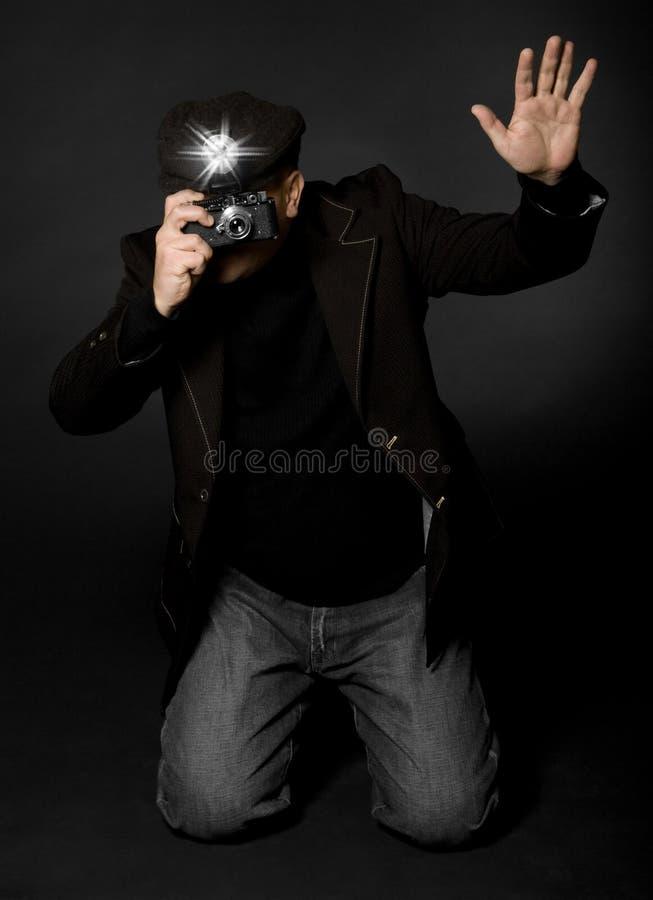 Retro Fotograaf van de Stijl stock foto