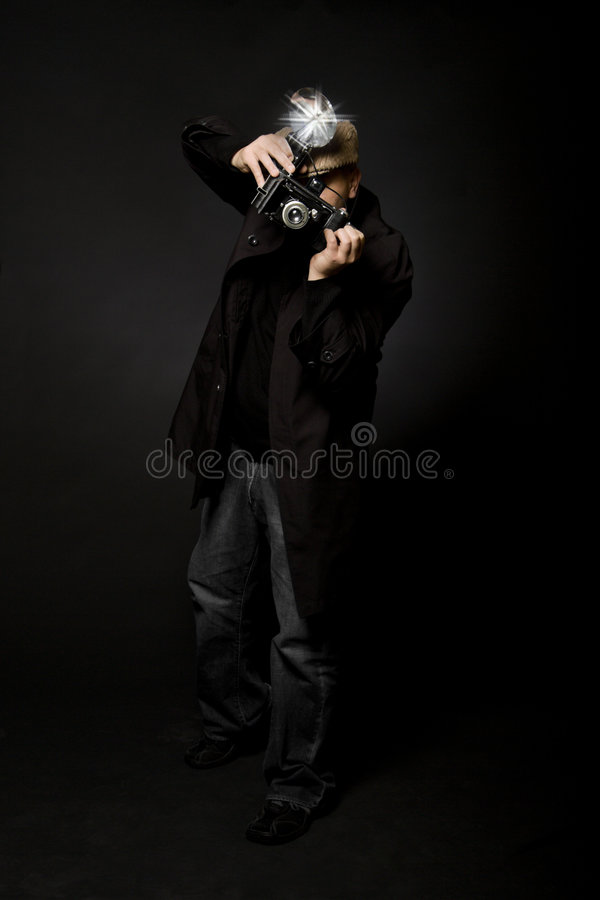 Retro Fotograaf van de Stijl royalty-vrije stock foto
